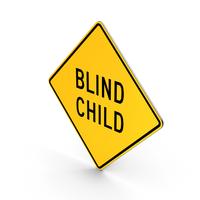 Blind Child Delaware Road Sign PNG & PSD Images