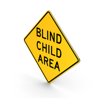 Blind Child Area New York Road Sign PNG & PSD Images