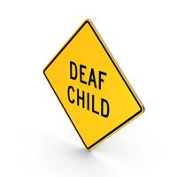 Deaf Child Delaware Road Sign PNG & PSD Images