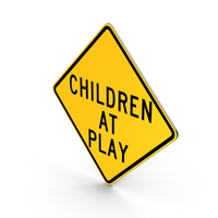 Children At Play New York State Road Sign PNG & PSD Images
