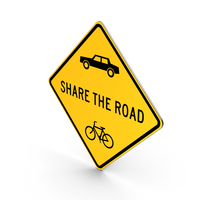 Share The Road Maryland Road Sign PNG & PSD Images