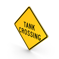 Tank Crossing Road Sign PNG & PSD Images