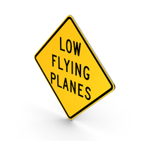 Low Flying Planes Road Sign PNG & PSD Images