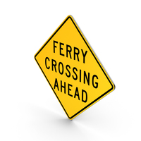 Ferry Crossing Missouri Road Sign PNG & PSD Images