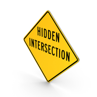 Hidden Intersection Road Sign PNG & PSD Images