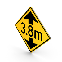 Metric Low Clearance Road Sign PNG & PSD Images