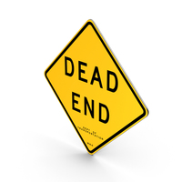 Dead End New York Road Sign PNG & PSD Images