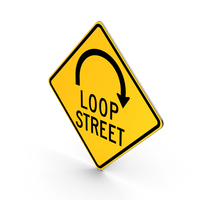 Loop Street Road Sign PNG & PSD Images