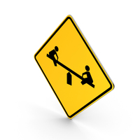 Playground Road Sign PNG & PSD Images
