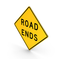 Road Ends Missouri Texas Road Sign PNG & PSD Images