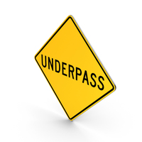 Underpass Road Sign PNG & PSD Images