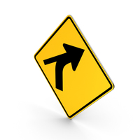 Curve Out Intersection Road Sign PNG & PSD Images