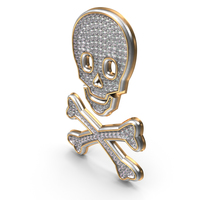 Bling diamonds titles Symbol Skull PNG & PSD Images