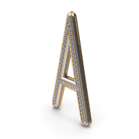 Bling Diamonds Title Letter A PNG & PSD Images