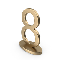 Table Numbers Sign 8 PNG & PSD Images