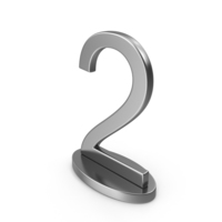 Silver Table Numbers Sign 2 PNG & PSD Images