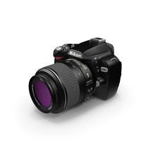 DSLR NIKON D60 - 18-55 mm Kit Lens PNG & PSD Images