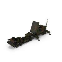 Camo HEMTT M985 with Patriot AN MPQ53 Radar PNG & PSD Images