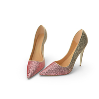 Womens Shoes Gold Pink PNG & PSD Images