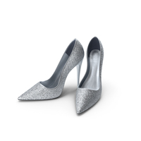 Womens Shoes Silver PNG & PSD Images