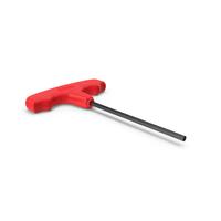 Hex 5mm T Handle Allen Key PNG & PSD Images