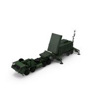 HEMTT M985 with Patriot AN MPQ53 Radar Green PNG & PSD Images