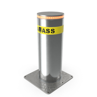 Kavass Retractable Security Bollard PNG & PSD Images