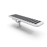 LED Street Light with Solar Panel PNG & PSD Images