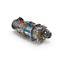 PT6C-67C Turboshaft Engine Slice PNG & PSD Images