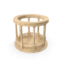 Stone Round Colonnade PNG & PSD Images