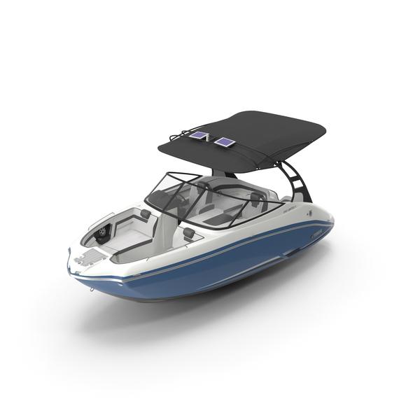 Yamaha 242S E Series 2017 Motor Boat PNG & PSD Images