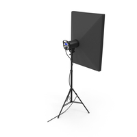 Strobe Studio Softbox Head And Tripod model PNG & PSD Images
