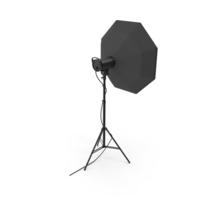 Strobe Studio Monolight Octabox Head And Tripod PNG & PSD Images