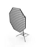 Studio Monolight Octabox with Grid And Head PNG & PSD Images