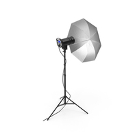 Studio Umbrella And Head On Tripod Stand PNG & PSD Images