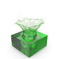 Green Water Splash PNG & PSD Images