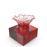 Red Water Splash PNG & PSD Images