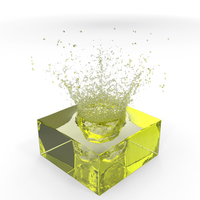 Yellow Water Splash PNG & PSD Images