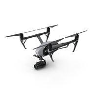 DJI Inspire 2 with Zenmuse X7 Camera PNG & PSD Images