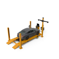 Wheel Alignment Equipment with Car PNG & PSD Images