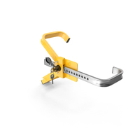 Anti Theft Wheel Lock Clamp with Keys PNG & PSD Images