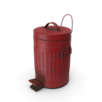 Pedal Trash Bin Red Dirty PNG & PSD Images
