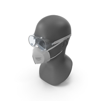 N95 Respirator And Safety Goggles PNG & PSD Images