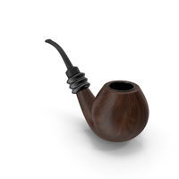 Smoking Pipe Walnut Black PNG & PSD Images