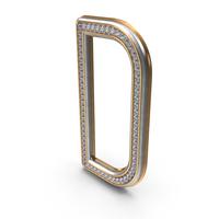Bling Diamonds Letter D PNG & PSD Images