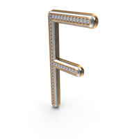 Bling Diamonds Letter F PNG & PSD Images