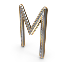Bling Diamonds Letter M PNG & PSD Images