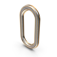 Bling Diamonds Letter O PNG & PSD Images