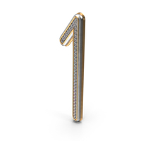 Bling Diamonds Number 1 PNG & PSD Images