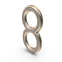 Bling Diamonds Number 8 PNG & PSD Images